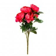 Букет искусственных Пионов (красного цвета) 9 шт 47 см