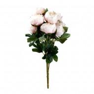 Букет искусственных Пионов (светло-розовый цвет) 9 шт 47 см