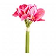 Букет искусственных Орхидей (темно-розового цвета)  24 см