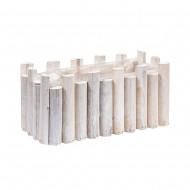 Кашпо деревянное белое 29х13х13 см