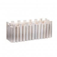 Кашпо деревянное белое 39х13х15 см