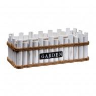 Кашпо деревянное белое  50х20х17 см