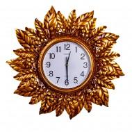 Часы настенные металлические (золотого цвета) 60х60 см
