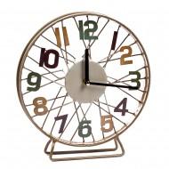 Часы настольные металлические колесо  25х25 см