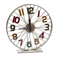 Часы настольные металлические колесо  40х40 см