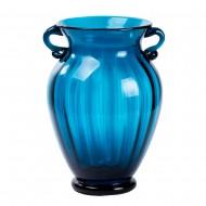 Ваза для цветов с ручками голубого цвета 26х18 см