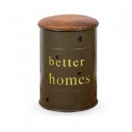 Пуф металлический с отделением для хранения (Better Homes) 45х35x35см