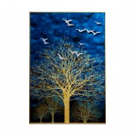 Панно настенное Дерево и Птицы 120х80 см