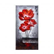 Панно настенное цветы 40х80 см