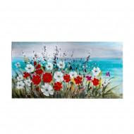 Панно настенное Цветы 60х120 см