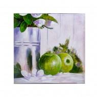Панно настенное  Натюрморт с яблоками 60х60 см