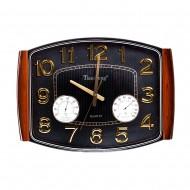 Часы настенные с термометром и гигрометром 50х36