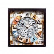 Часы настенные в рамке 27,5х27,5х6,5 см