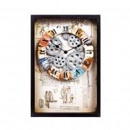 Часы настенные в рамке 40,5х27,5х7 см
