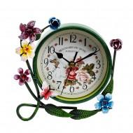 Часы настольные Цветы 16х15х4 см