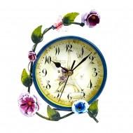 Часы настольные Цветы 17х14х4 см