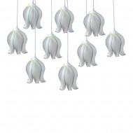 Интерьерное украшение Подвесные светильники в форме цветка 25 см 10 шт