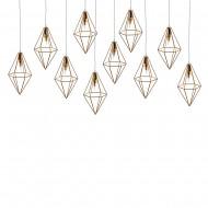 Интерьерное украшение Подвесные светильники в форме ромба 25 см 10 шт