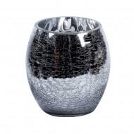 Ваза для цветов стекло серебристого цвета 13х18 см