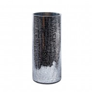 Ваза для цветов стекло серебристого цвета 15х35 см