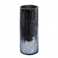 Ваза для цветов стекло серебристого цвета 15х40 см