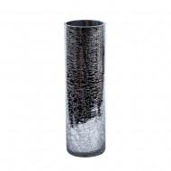 Ваза для цветов стекло серебристого цвета 12х40 см