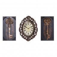 Часы настенные + Панно 2 шт Ключи. 60х34 см