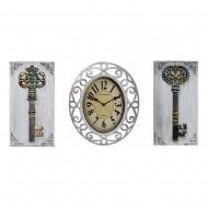 Часы настенные + Панно 2 шт Ключи.  59х31 см