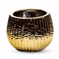 Вазочка круглая 13х13х13 см  (цвет золотистый)