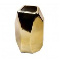 Вазочка 20х10х10 см  (цвет золотистый)