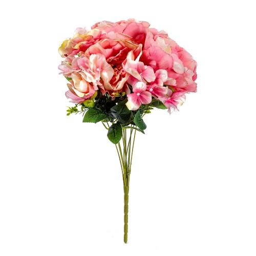 Букет искусственных Роз ( цвет розовый ) 50 см