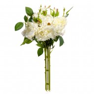 Букет искусственных Роз ( цвет белый ) 45 см