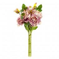Букет искусственных Роз ( цвет пурпурный ) 45 см