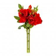 Букет искусственных Роз ( цвет красный ) 45 см