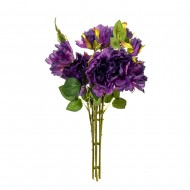 Букет искусственных Роз ( цвет фиолетовый ) 45 см