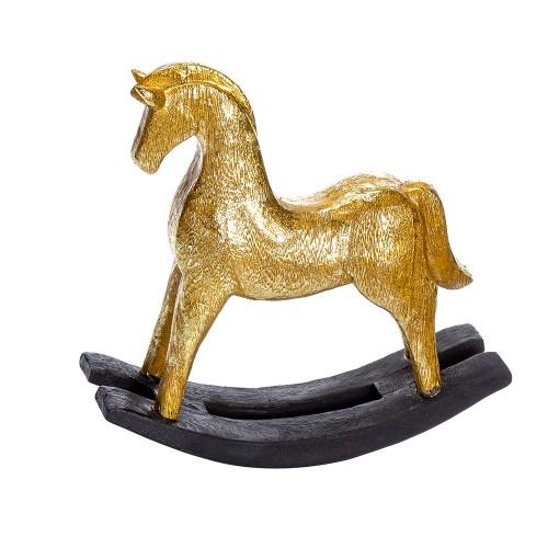 Статуэтка Лошадка (цвет золотой) 27х23 см