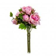 Букет из искусственных Пионов ( цвет розовый) 7 шт 47 см