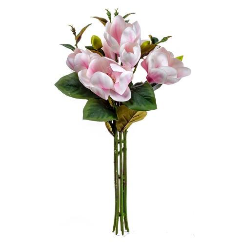 Букет искусственных Магнолий ( цвет розовый ) 7 шт 50 см