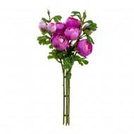 Букет искусственных Пионов ( цвет пурпурный )  50 см