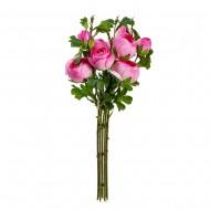 Букет искусственных Пионов ( цвет розовый )  50 см