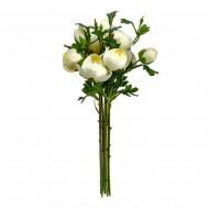 Букет искусственных Пионов ( цвет белый )  50 см