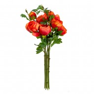Букет искусственных Пионов ( цвет красно - оранжевый )  50 см