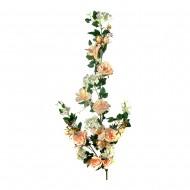 Искусственная ветка Цветущая роза 130 см цвета шапань