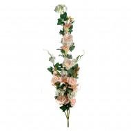 Искусственная ветка Цветущая роза 130 см розового цвета