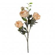 Цветы искусственные Ветка Пионов 128 см