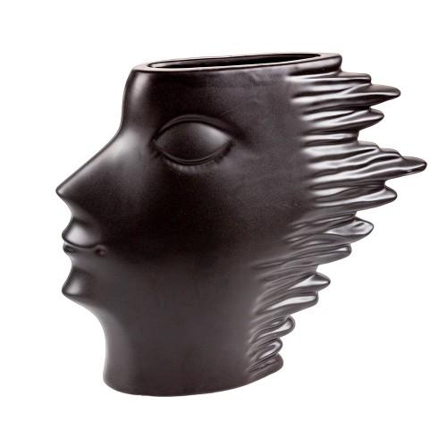 Статуэтка - Ваза  черного цвета 26х30 см
