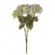 Цветы искусственные Букет Гортензии 49 см цвет молочный