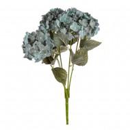 Цветы искусственные Букет Гортензии 49 см цвет голубой