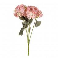 Цветы искусственные Букет Гортензии 49 см цвет розовый