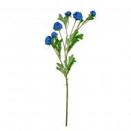 Искусственная Ветка Пионов 75 см цвет голубой